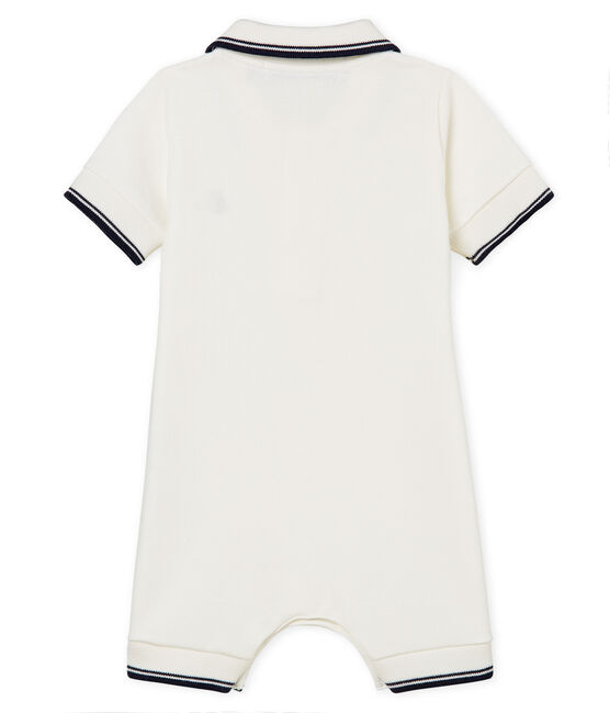 Baby boys' polo shirt Shortie Marshmallow white