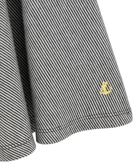 Girl's milleraies dress City black / Marshmallow white