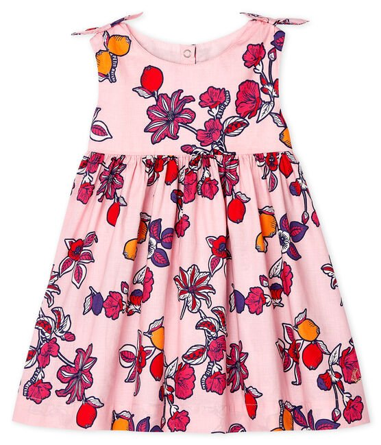 Baby Girls' Print Sleeveless Dress Merveille pink / Multico white