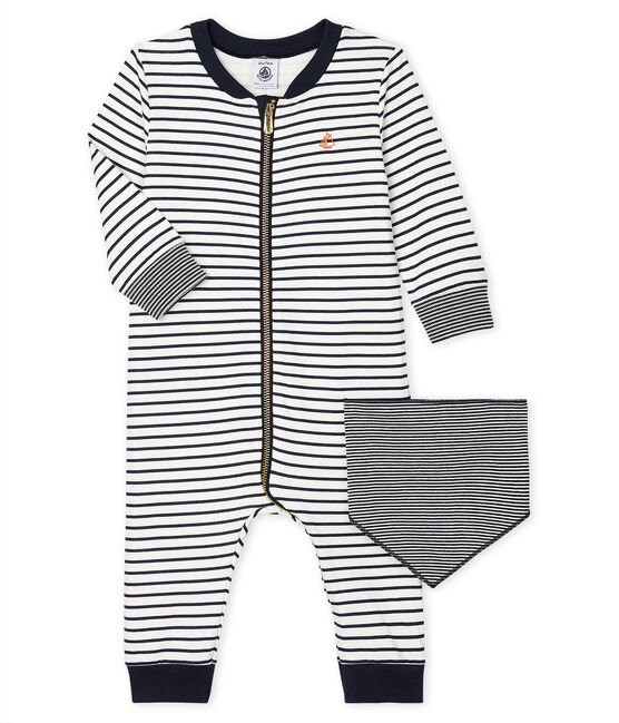 Baby Boys' Long Zipped Bodysuit . set