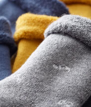 Set of 3 pairs of unisex baby's socks