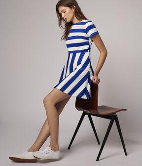 Women's Striped Dress Surf blue / Marshmallow white