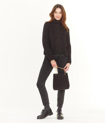 Women's Handbag Noir black / Or yellow