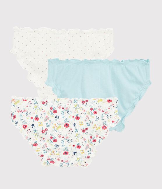 Girls' Floral Print Ruffled Knickers - 3-Piece Set . set