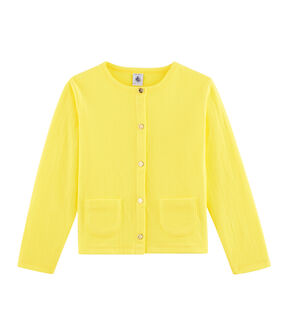 Girls' Cardigan Eblouis yellow