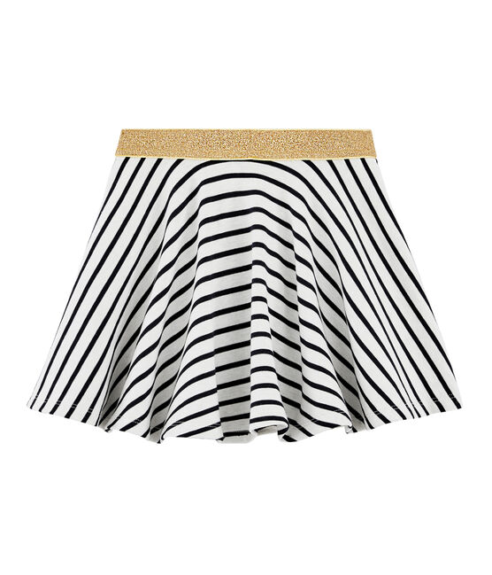 Girls' Skirt Marshmallow white / Smoking blue