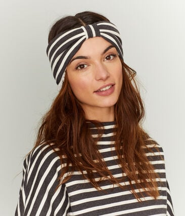 Women's Warm Headband City black / Coquille beige