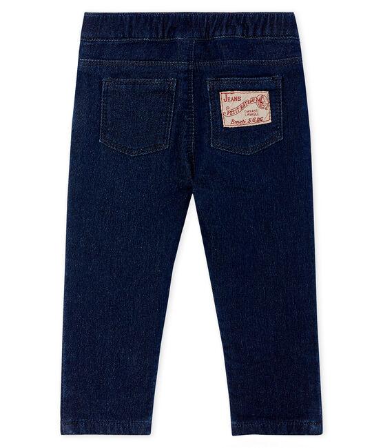 Unisex Baby's Denim Look Knit Trousers Jean blue