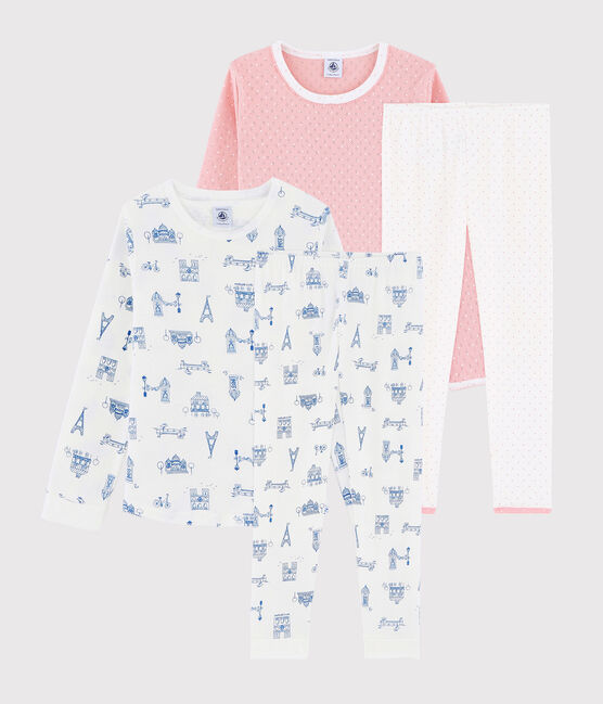Girls' Ribbed Pyjamas - 2-Piece Set . set
