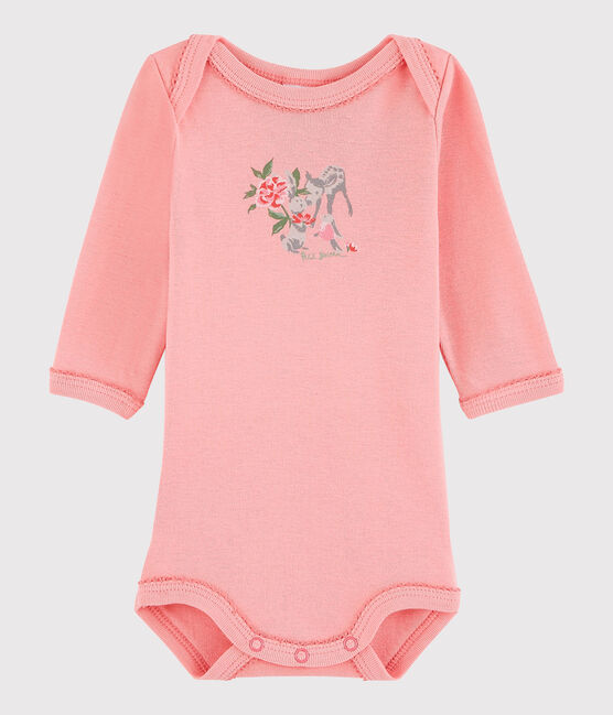 Baby Girls' Long-Sleeved Bodysuit Gretel pink