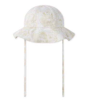 Baby girl's hat Marshmallow white / Multico white