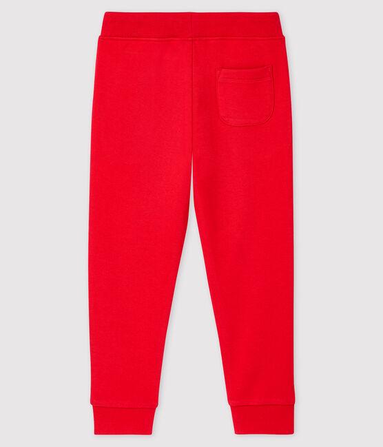Boys' Fleece Trousers Terkuit red