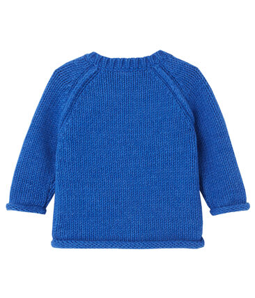 Baby boy's jacquard pullover Limoges blue