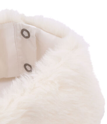 Girl's collar and cuffs set Marshmallow white
