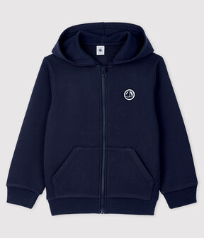 Boys' Fleece Hoody Smoking blue