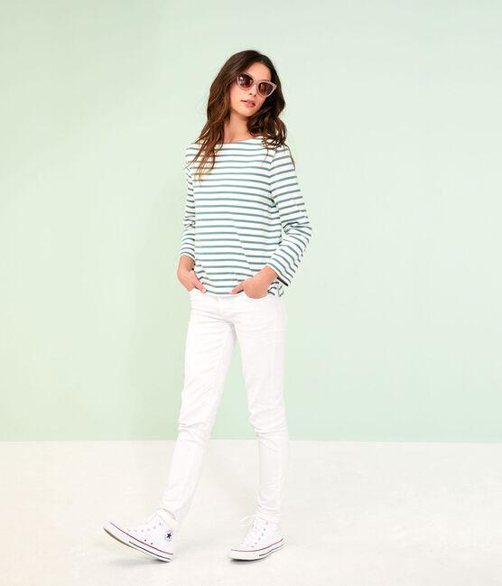 Women's Sailor Top Marshmallow white / Brut blue