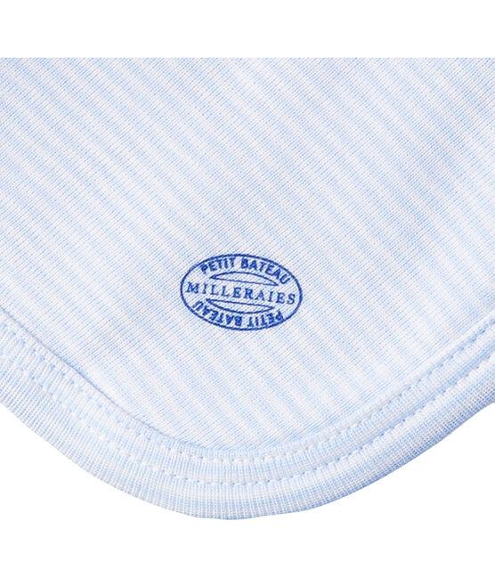 Babies' Ribbed Bunny Comforter Lait white / Fraicheur blue