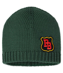 Boys' Woolly Hat Sousbois green