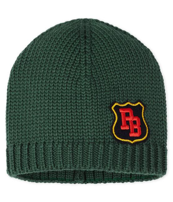 Boys' Woolly Hat Sousbois green