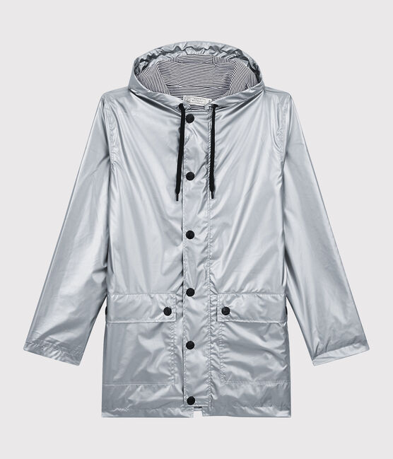 Women's Iconic Silver Raincoat Argent grey