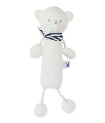 Unisex baby squeaking bear comforter