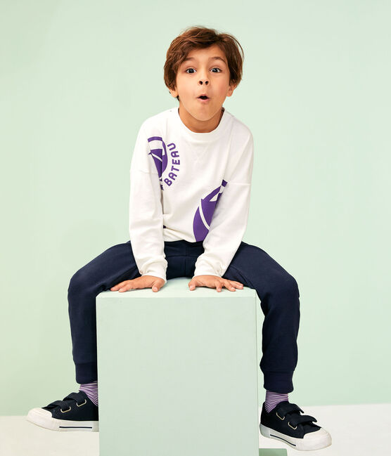 Girl - Boy's Sweatshirt Marshmallow white