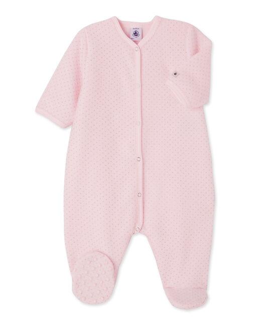 Baby girl's over pyjama Vienne pink / Mistigri grey