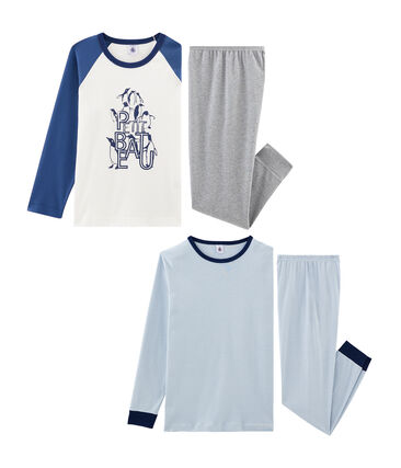 Boys' Ribbed Pyjamas - 2-Piece Set