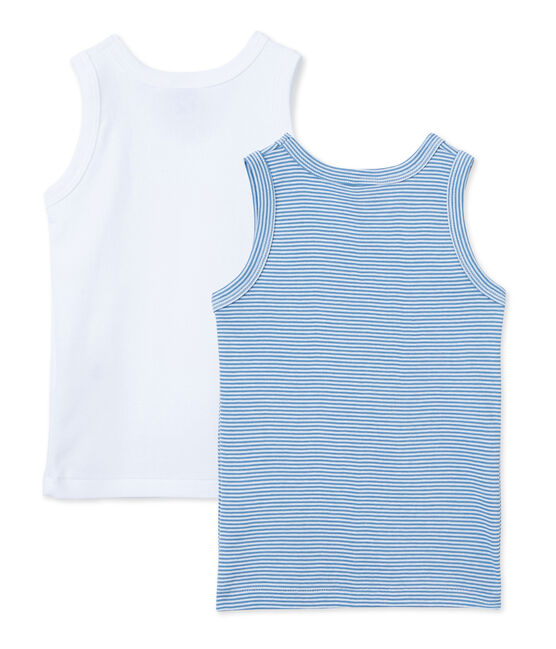 Pack of 2 teenage boy's vest tops . set