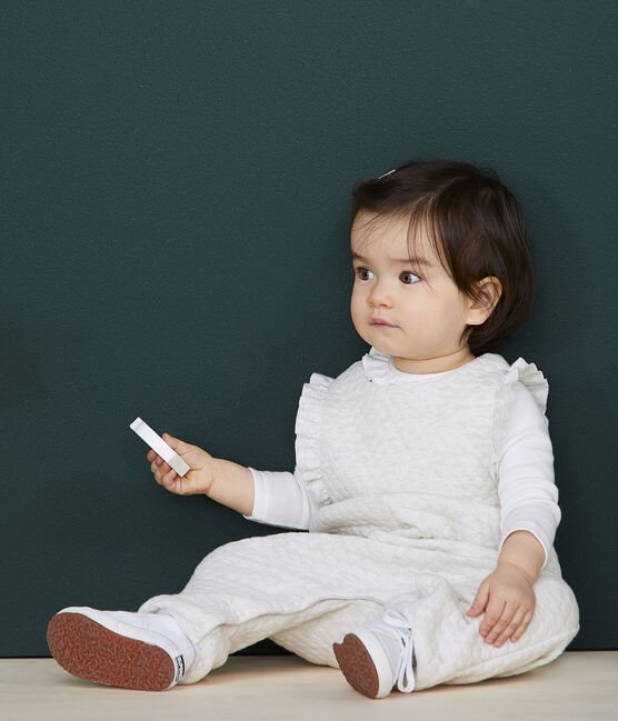Baby girl's long dungarees Montelimar Chine grey