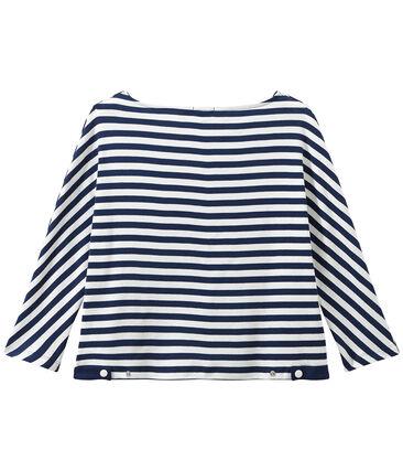 Women's striped long-sleeve tee