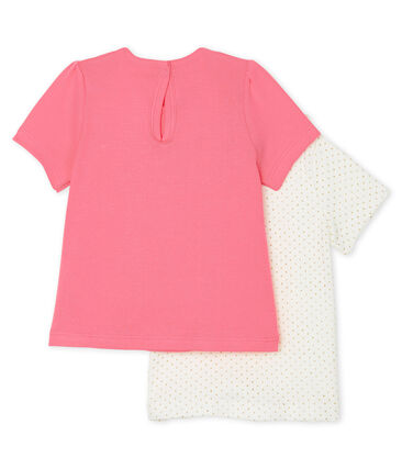 Set of 2 T-shirts for baby girls . set