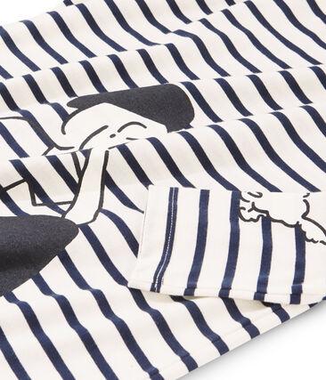 Women's Sailor T-Shirt Coquille beige / Smoking blue