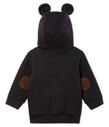Baby Boys' Hoody in Elastane Rib Knit.