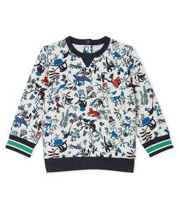 Baby Boys' Tube Knit Sweatshirt Beluga grey / Multico white
