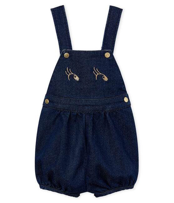 Baby girls' short dungarees JEAN