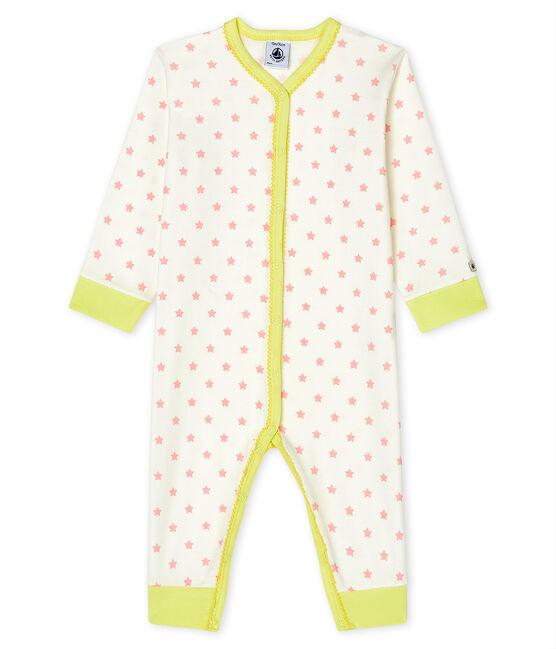Baby Girls' Footless Sleepsuit Marshmallow white / Gretel pink