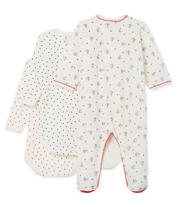 Baby Girls' Sleepsuit Set - Velour Sleepsuit and Long-Sleeved Ribbed Bodysuits . set