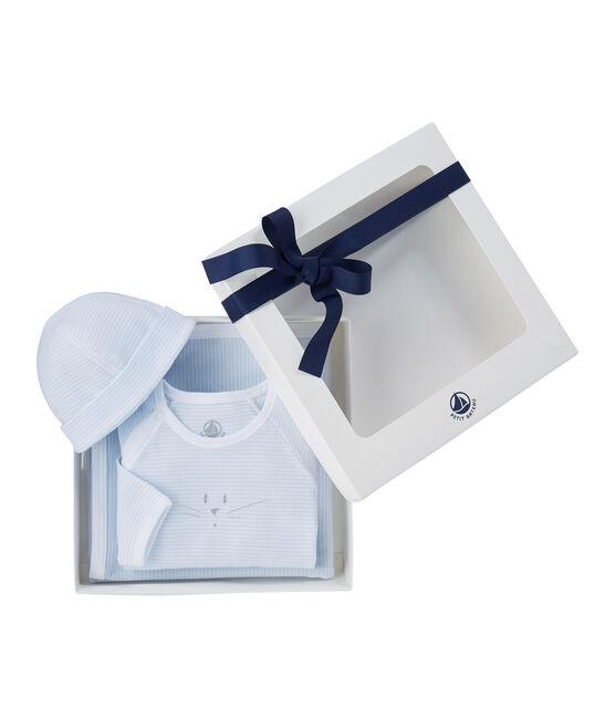 Unisex baby's gift set in 1 x 1 rib. . set