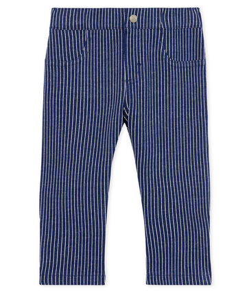 Baby Boys' Striped Knit Trousers Smoking blue / Marshmallow white