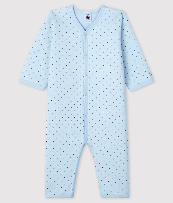 Baby Boys' Footless Sleepsuit in Padded Rib Knit FRAICHEUR/MOZAIK