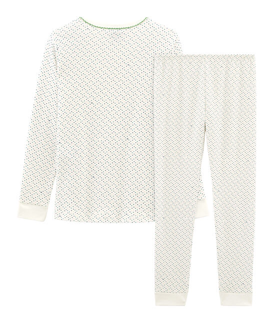Girls' Snugfit Pyjamas Marshmallow white / Multico white