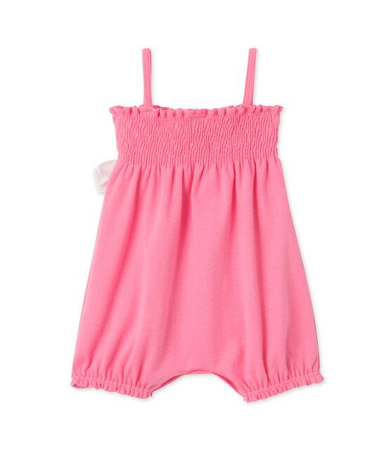Combinaison courte bébé fille Petal pink