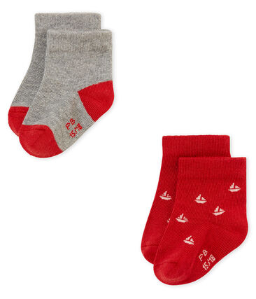 Set of 2 pairs of baby boy's socks . set
