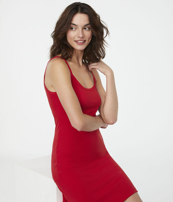 Women's Strappy Dress Terkuit red