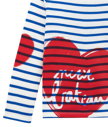 Girls' Creative Striped Top