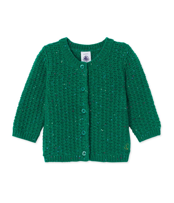 Baby girl's wool blend cardigan Gazon green