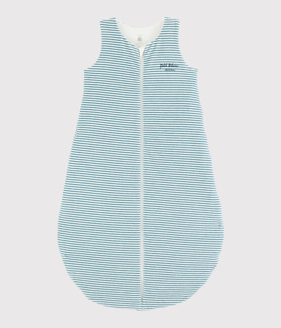 Babies' Stripy Ribbed Sleeping Bag MARSHMALLOW/BRUME