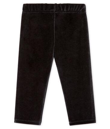 Baby Boys' Velour Knit Trousers Noir black