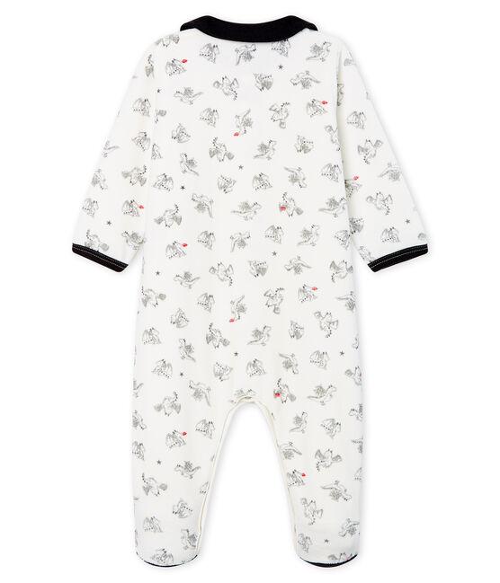 Baby Boys' Velour Sleepsuit Marshmallow white / Multico white